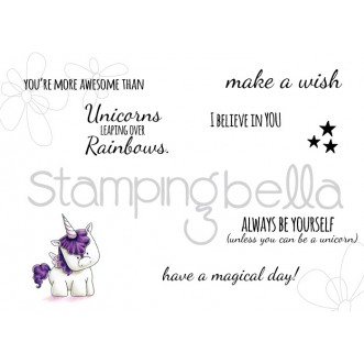 unicorn SENTIMENT set (includes 7 stamps)