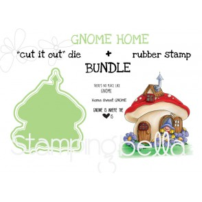 "GNOME HOME RUBBER STAMP + ""CUT IT OUT"" DIE BUNDLE (save 15%)"