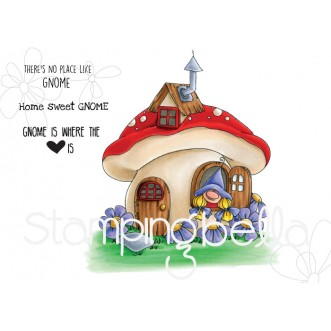 GNOME HOME rubber stamp
