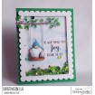 """Gnome on a SWING RUBBER STAMP + """"CUT IT OUT"""" DIE BUNDLE (Save 15%)"""