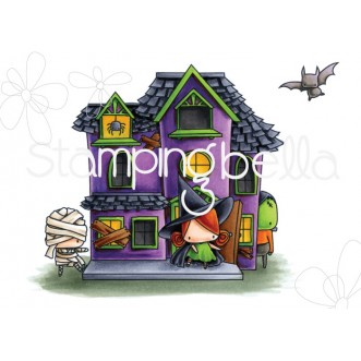THE LITTLES HAUNTED HOUSE FULL SCENE (look closely and you will see the little characters!)