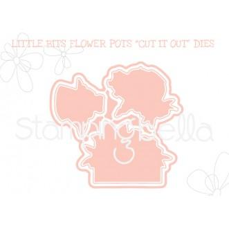 """LITTLE BITS FLOWER POTS """"CUT IT OUT"""" DIES"""