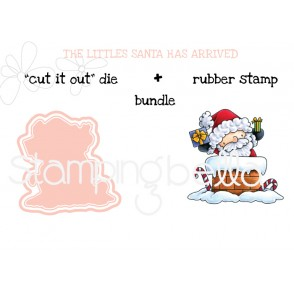 "THE LITTLES SANTA HAS ARRIVED ""CUT IT OUT"" + RUBBER STAMP BUNDLE (save 15%!)"