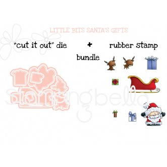 "LITTLE BITS Santa's Gifts ""CUT IT OUT"" DIE + RUBBER STAMP BUNDLE (save 15%)"