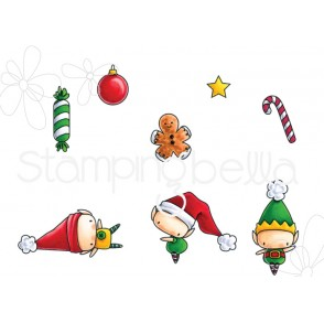 LITTLE BITS SET OF ELVES rubber stamps