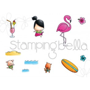 LITTLE BITS  SURFER SET (set of 11 cling mounted RUBBER stamps)