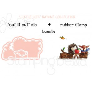 "THE LITTLES HEDGIE and FOXY RUBBER STAMP and ""CUT IT OUT"" BUNDLE (save 15%)"