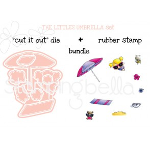 "THE LITTLES UMBRELLA SET ""CUT IT OUT DIES"" + RUBBER STAMP BUNDLE (save 15%)"