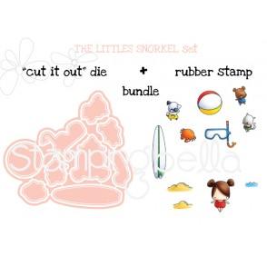 """LITTLE BITS  SNORKEL SET """"CUT IT OUT"""" DIES +RUBBER STAMP BUNDLE (Save 15%)"""