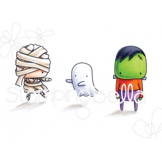 little bits MUMMY FRANKIE and GHOSTY rubber stamps