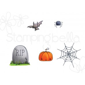 LITTLE BITS haunted house OUTDOOR DECORATIONS rubber stamps