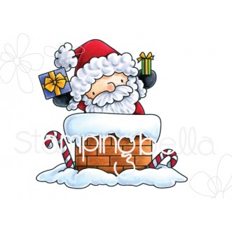 THE LITTLES SANTA has ARRIVED rubber stamp