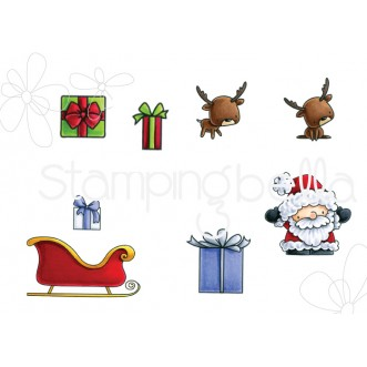 LITTLE BITS SANTA'S GIFTS rubber stamps