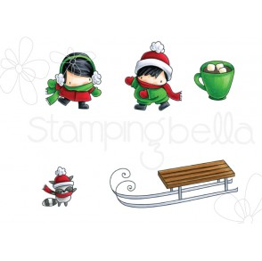 LITTLE BITS SLEDDING rubber stamps