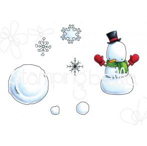 LITTLE BITS SNOWMAN SET rubber stamps