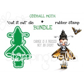 "ODDBALL MOTH RUBBER STAMP + ""CUT IT OUT"" DIE BUNDLE (SAVE 15%)"