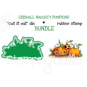 "ODDBALL NAUGHTY PUMPKINS RUBBER STAMP + ""CUT IT OUT"" DIE BUNDLE (SAVE 15%)"