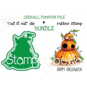 "ODDBALL PUMPKIN PILE RUBBER STAMP + ""CUT IT OUT"" DIE BUNDLE (SAVE 15%)"