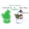 "ODDBALL SNOWMAN RUBBER STAMP + ""CUT IT OUT"" DIE BUNDLE (SAVE 15%)"