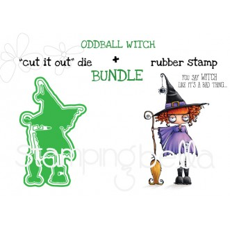 "ODDBALL WITCH RUBBER STAMP + ""CUT IT OUT"" DIE BUNDLE (SAVE 15%)"