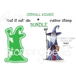 "ODDBALL WIZARD RUBBER STAMP + ""CUT IT OUT"" DIE BUNDLE (SAVE 15%)"