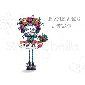 DAY OF THE DEAD ODDBALL RUBBER STAMP