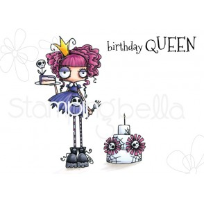 ODDBALL BIRTHDAY QUEEN RUBBER STAMP