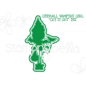 "ODDBALL VAMPIRE GIRL ""CUT IT OUT"" DIE"