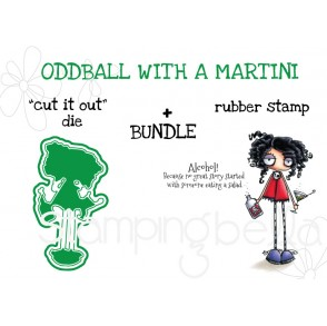 "ODDBALL with a MARTINI RUBBER STAMP + ""CUT IT OUT"" DIE BUNDLE"