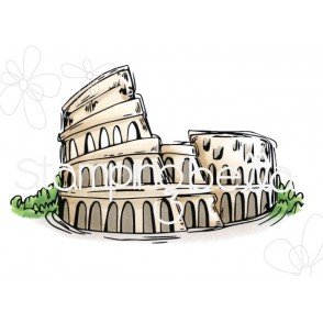 Rosie and Bernie's COLOSSEUM rubber stamp