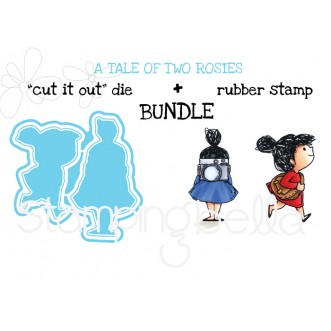 "A Tale of TWO ROSIES RUBBER STAMPS + ""CUT IT OUT"" DIE BUNDLE (save 15%)"