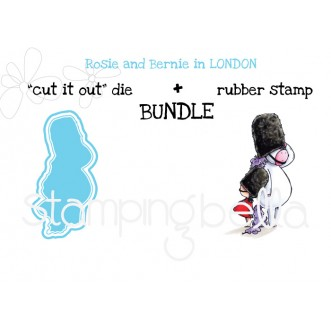 "Rosie and Bernie in LONDON RUBBER STAMP + ""CUT IT OUT"" DIE BUNDLE (save 15%)"