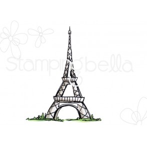 Rosie and Bernie's EIFFEL TOWER rubber stamp