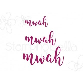 "MWAH SENTIMENT DIE SET (SET OF 3 ""CUT IT OUT"" DIES)"