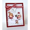 HOLIDAY SENTIMENT SET rubber stamps
