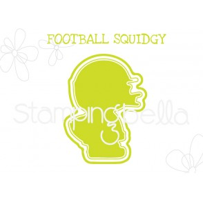 "FOOTBALL SQUIDGY ""CUT IT OUT"" DIE"""