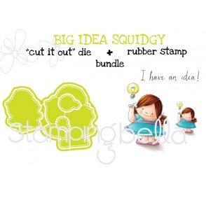 "BIG IDEA SQUIDGY RUBBER STAMP+""CUT IT OUT"" DIE BUNDLE (save 15%)"