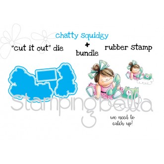 "chatty SQUIDGY ""CUT IT OUT"" DIES + RUBBER STAMP BUNDLE (save 15% when you purchase together)"
