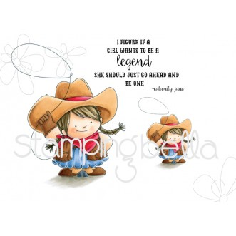 COWGIRL SQUIDGY Rubber Stamps (set of 3 stamps)