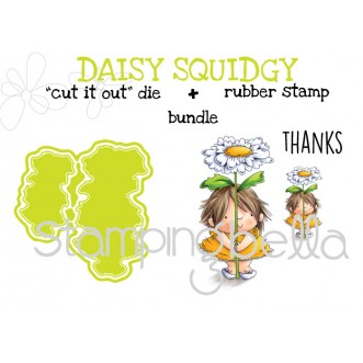 "DAISY SQUIDGY RUBBER STAMP + ""CUT IT OUT"" DIE BUNDLE (save 15%)"