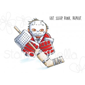 GOALIE SQUIDGY RUBBER STAMP