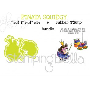 "PINATA Squidgy RUBBER STAMP + ""CUT IT OUT"" DIE BUNDLE (Save 15%)"