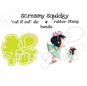 "SCREAMY SQUIDGY RUBBER STAMPS + ""CUT IT OUT"" DIES BUNDLE (save 15%)"