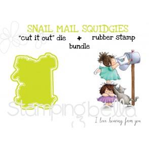 "SNAIL MAIL SQUIDGIES RUBBER STAMP + ""CUT IT OUT"" DIES BUNDLE (save 15%)"