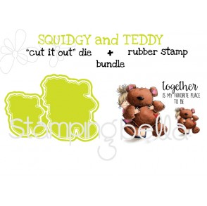"SQUIDGY and TEDDY rubber stamps+""cut it out"" dies BUNDLE (SAVE 15%)"