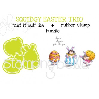 "Squidgy EASTER TRIO ""RUBBER STAMP"" and ""CUT IT OUT"" BUNDLE (Save 15%)"