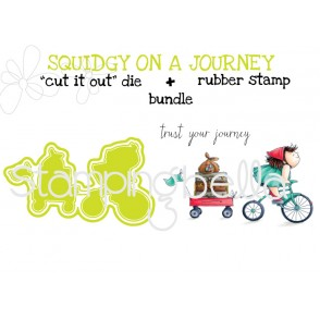 """the SQUIDGY on a JOURNEY RUBBER STAMP +""""CUT IT OUT"""" DIE BUNDLE (save 15%)"""