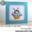 "the SQUIDGY in a basket RUBVBER STAMP + ""CUT IT OUT"" DIE BUNDLE (save 15%)"