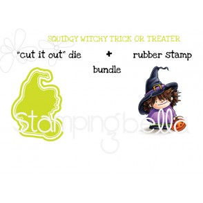 "squidgy WITCHY RUBBER STAMP + ""CUT IT OUT"" DIE BUNDLE (SAVE 15%)"