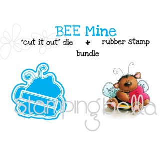 "bee MINE ""CUT IT OUT"" DIES + RUBBER STAMP BUNDLE (save 15% when purchased together)"